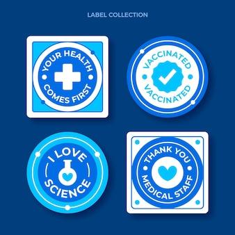 Collection d'étiquettes scientifiques plates