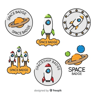 Collection d'étiquettes spatiales