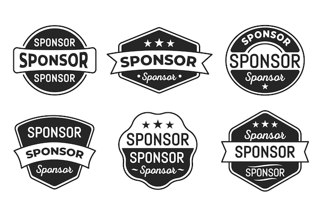 Collection d'étiquettes de sponsor