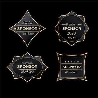 Collection d'étiquettes de sponsors de luxe
