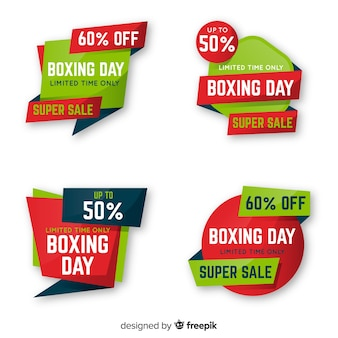 Collection d'étiquettes super vente boxing day