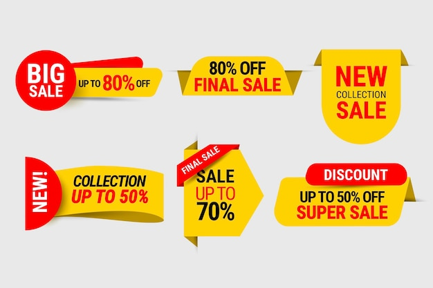 Collection d'étiquettes de super vente