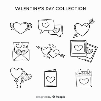 Collection d'étiquettes valentine