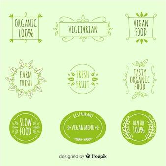 Collection d'étiquettes végétaliennes