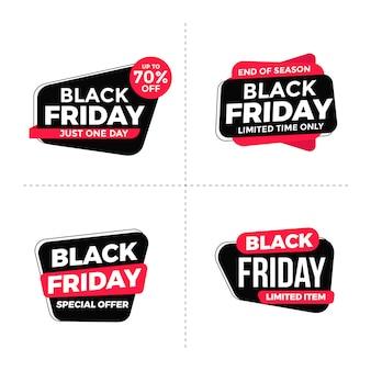 Collection d'étiquettes de vendredi noir