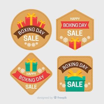 Collection d'étiquettes de vente de boxe