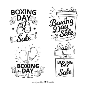 Collection d'étiquettes de vente de boxe