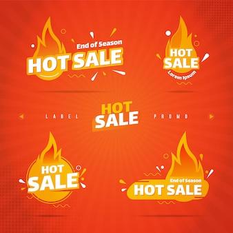 Collection d'étiquettes de vente chaude