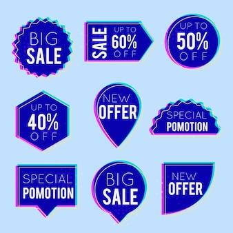 Collection d'étiquettes de vente colorées