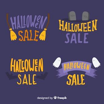 Collection d'étiquettes de vente d'halloween