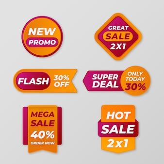 Collection d'étiquettes de vente modernes