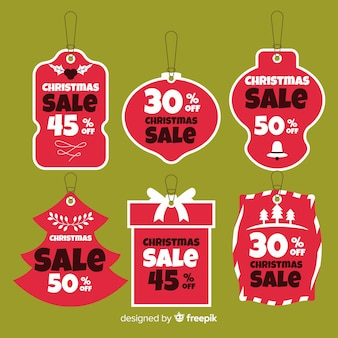 Collection d'étiquettes de vente de noël