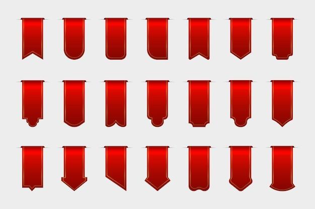 Collection d'étiquettes de vente vide isolée sur fond blanc