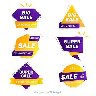 Collection d'étiquettes de vente