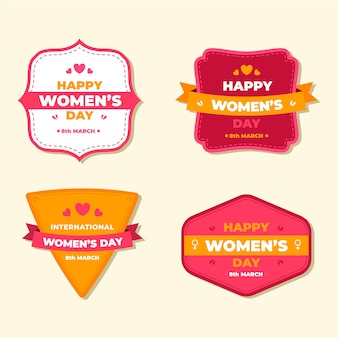 Collection d'étiquettes vintage pour femmes