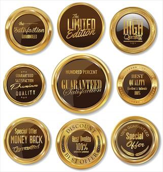 Collection d'étiquettes vintage rétro de qualité