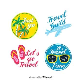 Collection d'étiquettes de voyage