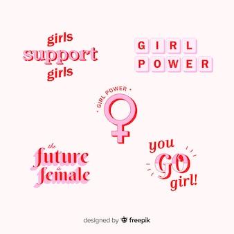 Collection d'étiquettes womans day