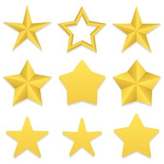 Collection d'étoiles à cinq points
