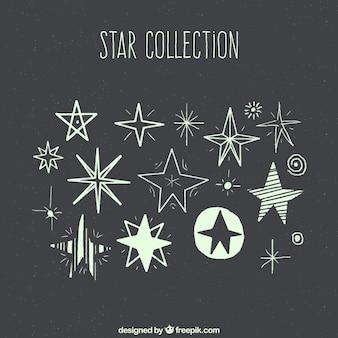 Collection d'étoiles dessinées à la main