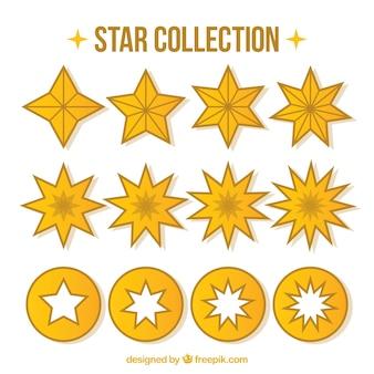 Collection d'étoiles plates