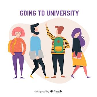 Collection d'étudiants universitaires