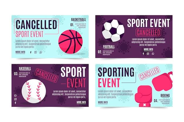 Collection d'événements sportifs annulés - bannières