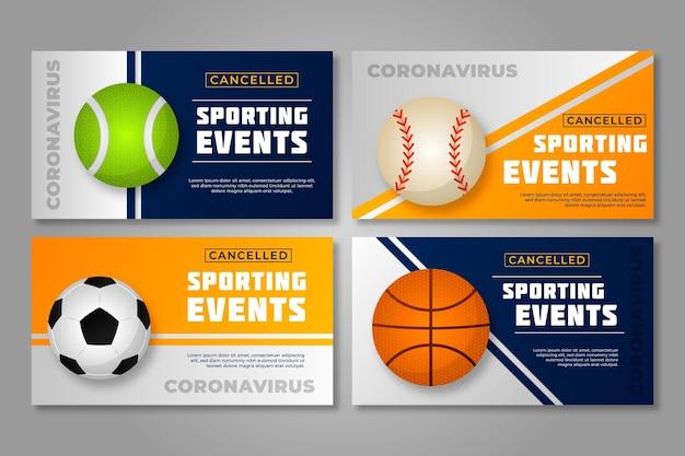 Collection d'événements sportifs annulés