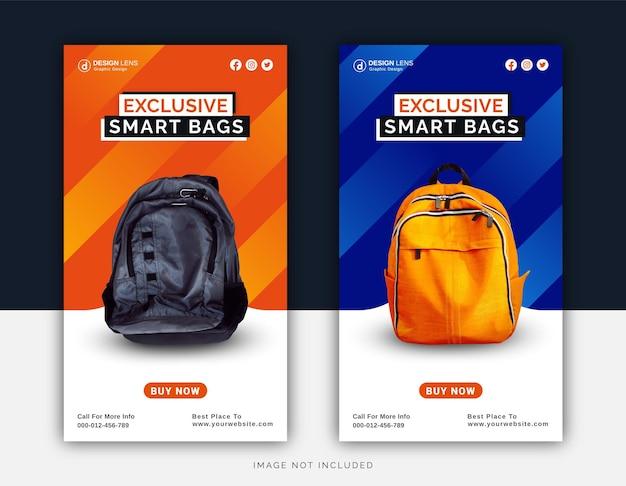 Collection exclusive de sacs intelligents numériques modèle de publication instagram sur les médias sociaux
