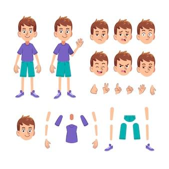 Collection d'expressions de caractères et de parties du corps