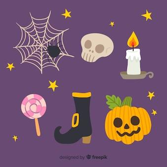 Collection fantasmagorique halloween dessiné à la main