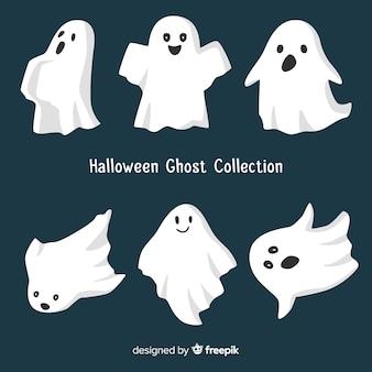 Collection de fantômes d'halloween dans différentes poses