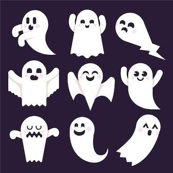 Collection de fantômes plats