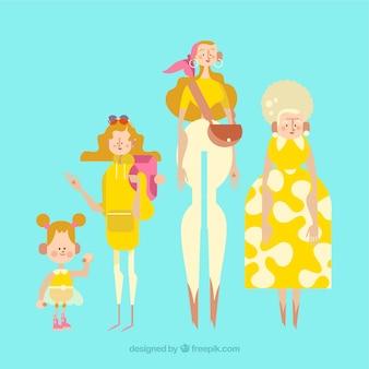 Collection de femmes blanches de différents âges