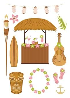 Collection de fête d'hawaï