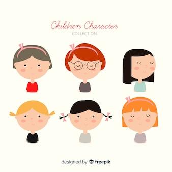 Collection de filles de la journée des enfants