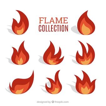 Collection de flamme plate