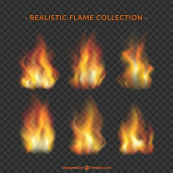 Collection de flammes réalistes