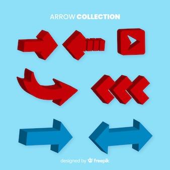 Collection de flèche moderne avec style 3d