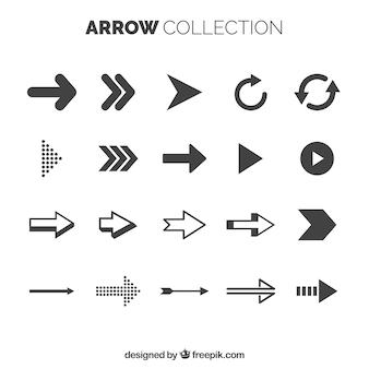 Collection de flèches de base avec style élégant