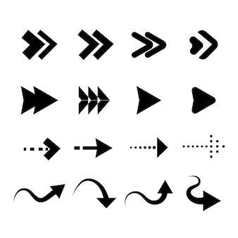 Collection de flèches design plat