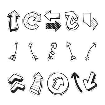 Collection de flèches de dessin animé