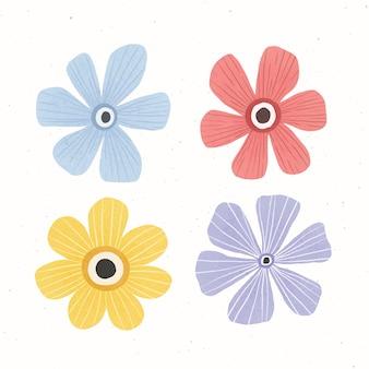 Collection de fleurs belles et colorées