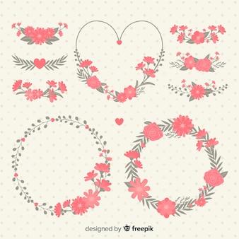 Collection de fleurs pour la saint valentin