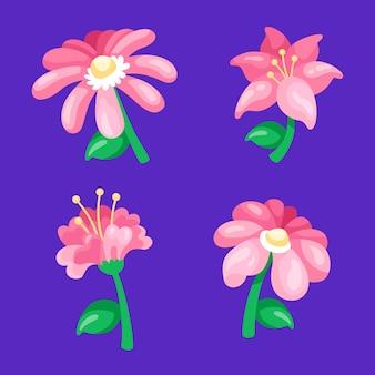 Collection de fleurs printanières