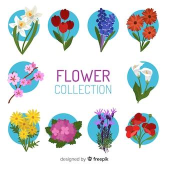 Collection de fleurs
