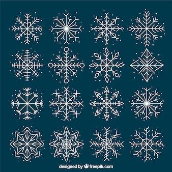 Collection de flocon de neige mignon