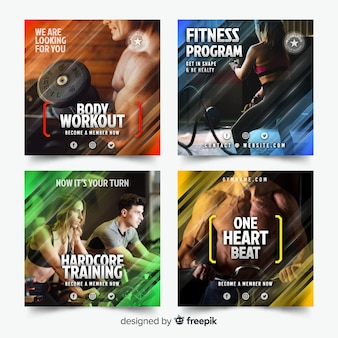 Collection de flyers de sport