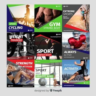 Collection de flyers de sport