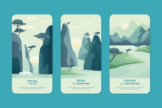 Collection de flyers verticaux d'aventure